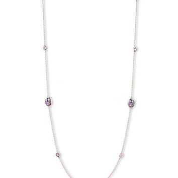 Judith Jack Sterling Silver and Mixed Crystal Layering Necklace