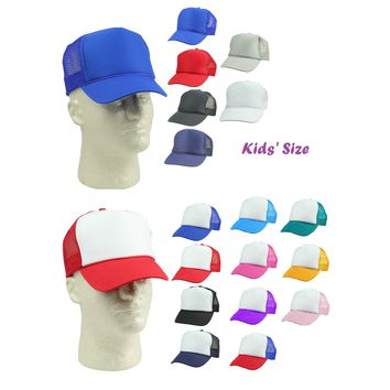 DALIX Hat 5 Panel Summer Mesh Youth Cap (Comes in 17 Colors)