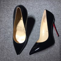 KUYOU Christian Louboutin red sole classic rivet Roller Boat CL with masonry high top sneakers 90515