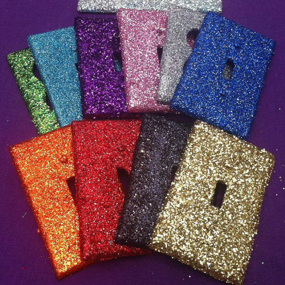 Glitter Light Switch Outlet Cover From Artzodiac On Etsy