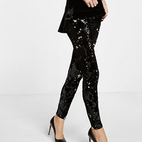 velvet sequin embellished legging