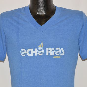 80s Ocho Rios Jamaica V-Neck t-shirt Small