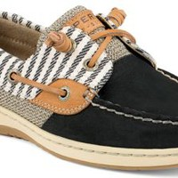 Sperry Top-Sider Bluefish Mariner Stripe 2-Eye Boat Shoe Black, Size 10M  Women's Shoes