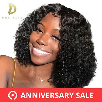 Brazilian Curly Lace Front Human Hair Wigs Short Bob Wig With Preplucked Hairline For Black Women Full End Freeshipping Dollface