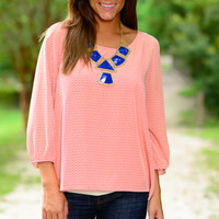 Mary Mack Blouse, Orange