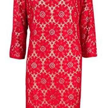Jessica Howard Womens All Over Lace Shift Dress