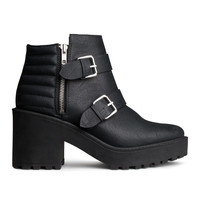 H&M - Platform Boots - Black - Ladies
