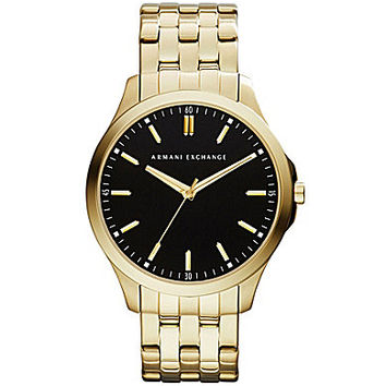 AX Armani Exchange Stainless Steel 3-Hand Watch - Gold