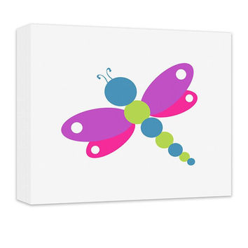 Dragonfly I Children's Canvas Wall Art