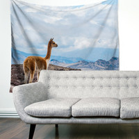 Llama Mountain Hiking Wanderlust Boho Gypsy Unique Dorm Home Decor Wall Art Tapestry
