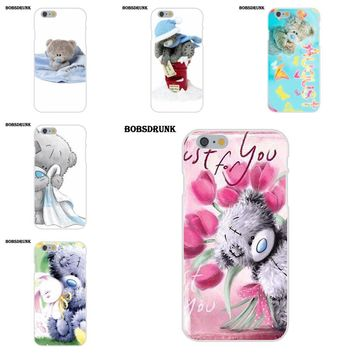 EJGROUP Soft Cases Covers Tatty Teddy Me To You Bear For iPhone 4 4S 5 5C SE 6 6S 7 8 Plus X