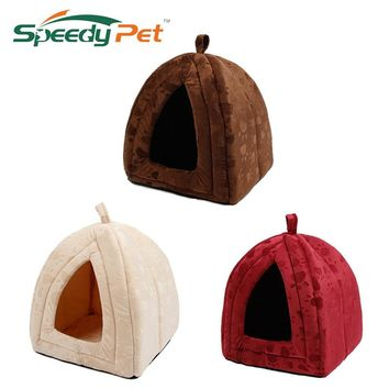 New Arrive Pet Kennel Super Soft FabricDog Bed Princess House Specify for Puppy Dog Cat with Paw Cama Para Cachorro Hot