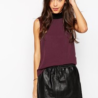 Vero Moda | Vero Moda Sleeveless High Neck Top at ASOS