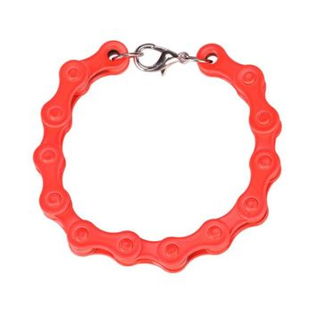 Bicycle Chain Bracelet in Burnt Orange