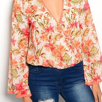 Hanging By A Moment Floral Top