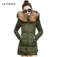 Winter Jacket Women Fur Hooded Parka Long Coats Cotton Padded Winter Coat Women Jaqueta Feminina Inverno