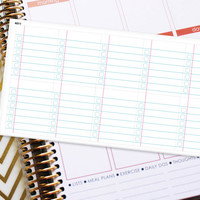 Planner Stickers Erin Condren Life Planner (ECLP) - 10 Full Box Notebook Paper Stickers (#4011)