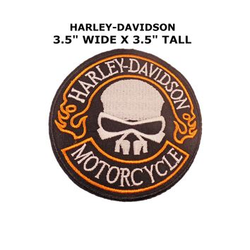 Harley-Davidson Motorcycles Skull Iron or Sew-on Patch