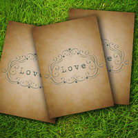 DIY Printable - Vintage Victorian Baroque Classic Grey Love Customizable Gift Tags