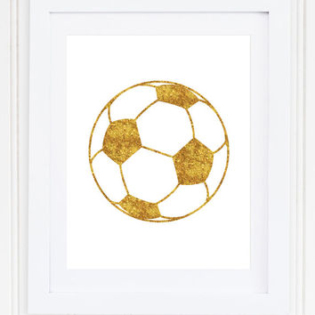 Glitter Soccer Ball Print / Soccer Gifts / Soccer Wall Art / Girlie Print / Sports Wall Art / Up to 13x19 / Rectangular or Square Print