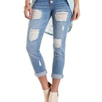 "Refuge ""Boyfriend"" Destroyed Cropped Jeans"