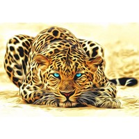 Unframed Leopard wall art canvas painting