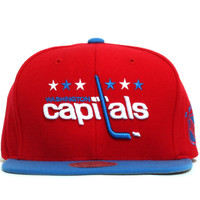 Washington Capitals Two Tone Snapback Hat Red / Blue