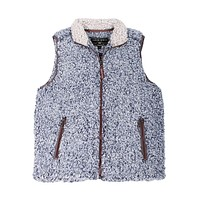 Frosty Tipped Double Up Vest in Vintage Blue by True Grit