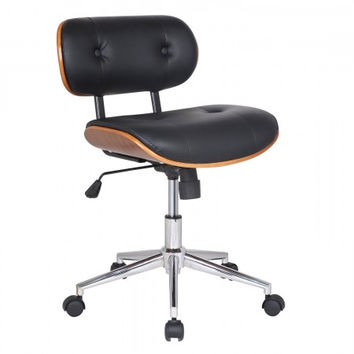 Joveco Bentwood Button Tufted Adjustable Height Swivel Desk Chair