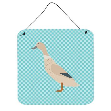 West Harlequin Duck Blue Check Wall or Door Hanging Prints BB8032DS66