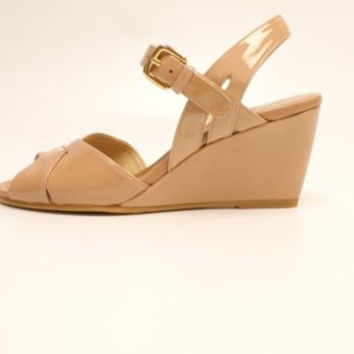 Stuart Weitzman Halley Adobe Aniline Beige Wedge Sandals Leather 9 M NIB