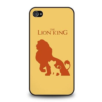 the lion king simba disney iphone 4 4s case cover  number 1