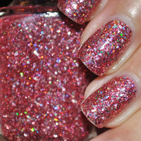 I Hate Pink Glitter Nail Polish 15ml 5oz by TheHungryAsian on Etsy