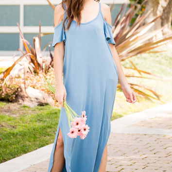 Cold Shoulder Maxi Dress - Plus