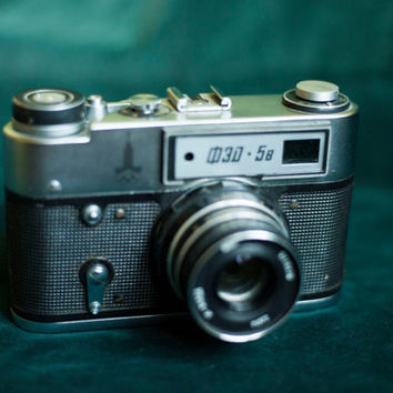 Soviet camera FED 5B/Rangefinder camera ussr/Industar-61/Russian film camera/Retro camera/Olympic Games/LIMITED EDITION