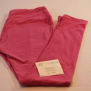 Adult Leggings, One Size Pink Solid