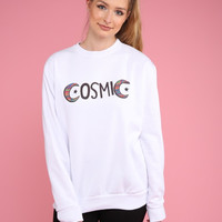 Cosmic Moon Graphic Crewneck Sweatshirt