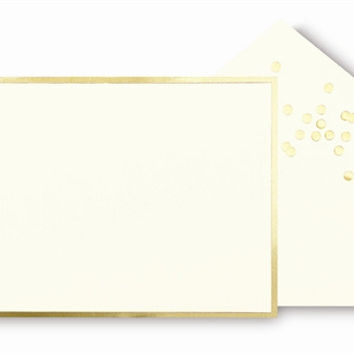 kate spade new york Correspondence Cards - Gold Dots