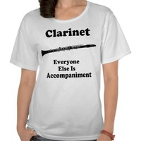 Clarinet Gift Shirt from Zazzle.com