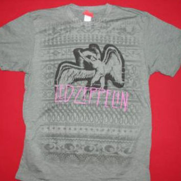 Led Zeppelin T-Shirt Swan Song Green Size Large