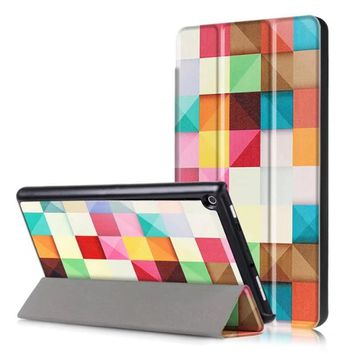 For Amazon NEW Kindle Fire HD 8 2017 Case Tablet Ultra Slim Wallet Folio Stand Folding PU Leather Book Cover Sleep Wake UP