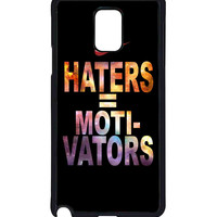 Nike Haters Motivation Custom  For Samsung Galaxy Note 4 Case *
