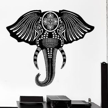 Wall Decal Animal Elephant Cool Tribal Ornament Mural Vinyl Decal (z3167)