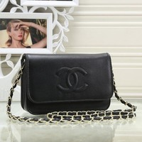 CHANEL Women Shopping Leather Flower Crossbody Shoulder Bag Satchel