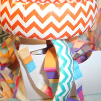 Chevron design bracelets in colorful Zigzag print