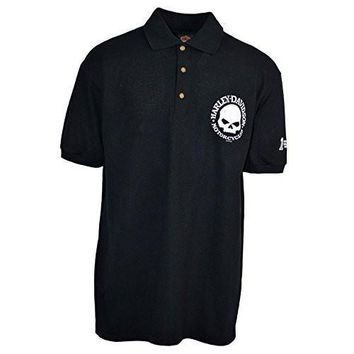 Men's Polo Shirt Harley-Davidson trademark - Willie G | Overseas Tour Shirt with Three