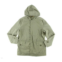 Tasso Elba Mens Water Repellent Hooded Rainwear Coat