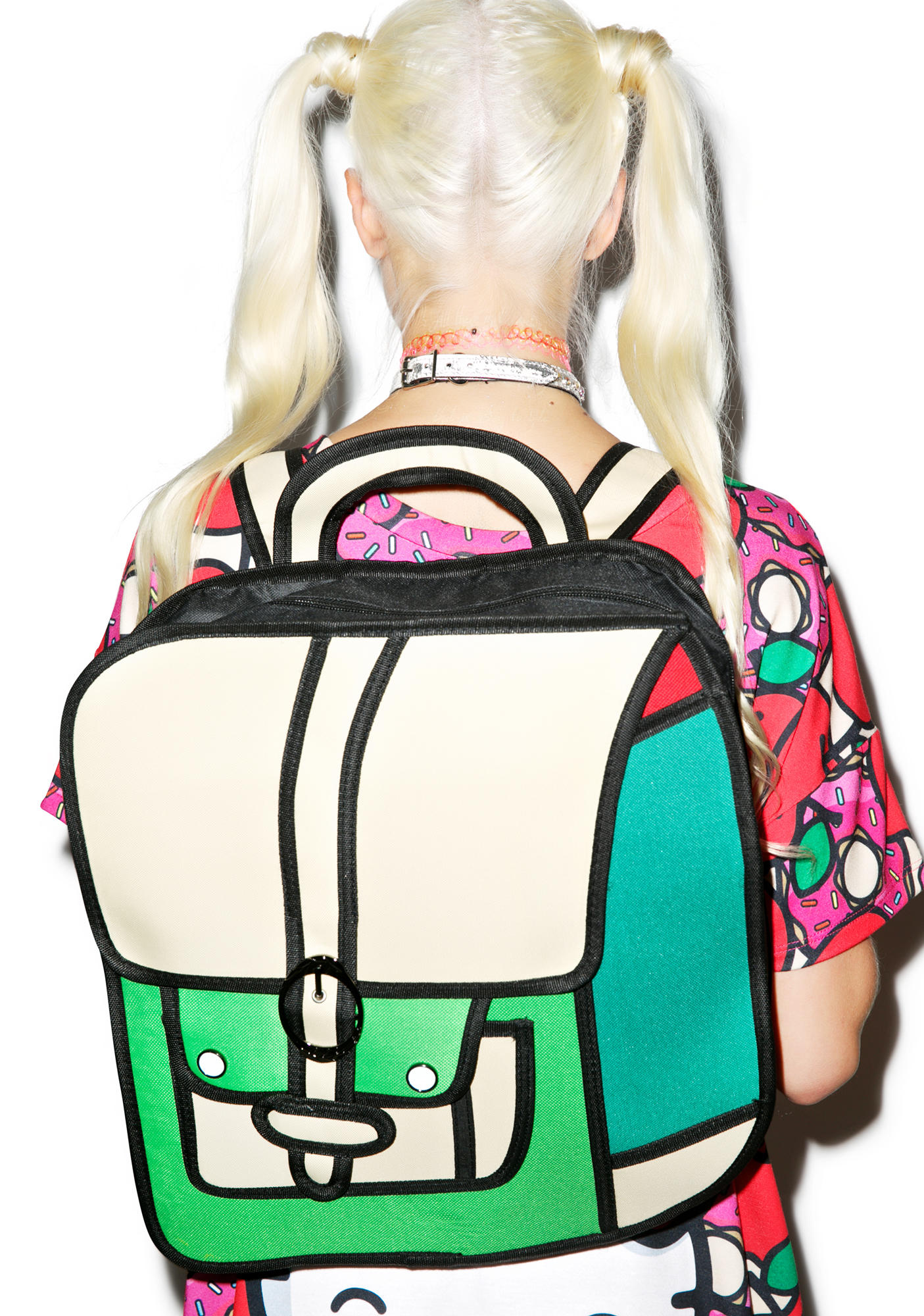 dfdf3ce9c2 Dream Bags Time for Recess Cartoon Backpack Green One
