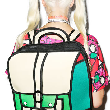 Dream Bags Time for Recess Cartoon Backpack Green One