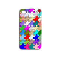 Cute Puzzle Pieces Custom Phone Case Pretty iPod Cover Beautiful iPhone Case iPhone 4 iPhone 5 iPhone 4s iPhone 5s iPod 5 Case iPod 4 Case
